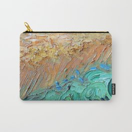 Wheat Field with Cypresses Brush Detail by Vincent van Gogh Carry-All Pouch