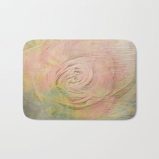 Timeless Vintage Pressed Pastel Rose Bath Mat