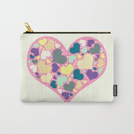 Hearts and Dots Carry-All Pouch