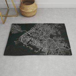 Douala City Map of Cameroon - Dark Rug
