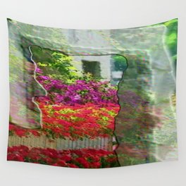 House with flowers in Provence Wall Tapestry
