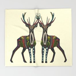 deer vanilla Throw Blanket