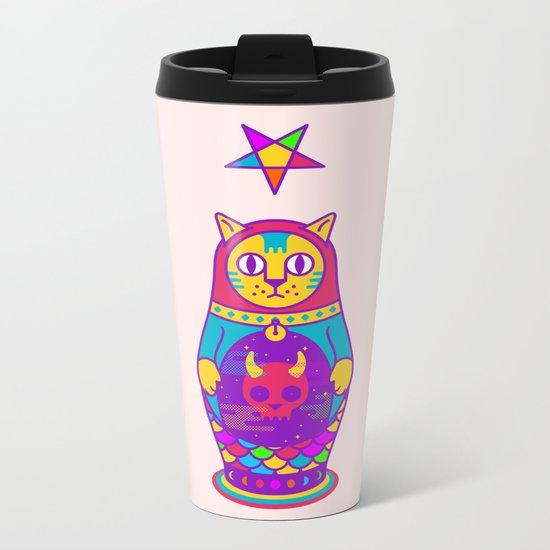 Malevolent Kitty Metal Travel Mug