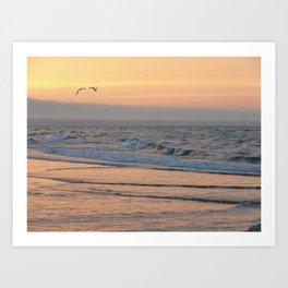 Sunset in Bay de Chaleur Art Print