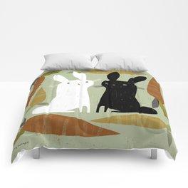 CONTRAST & CARROTS Comforters
