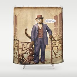 "One Cool Cat: ""Well . . . Hello, kitties!"" Shower Curtain"