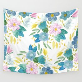Soft Flowals Wall Tapestry