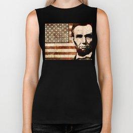 Abraham Lincoln Biker Tank