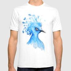 Blue Bird MEDIUM White Mens Fitted Tee