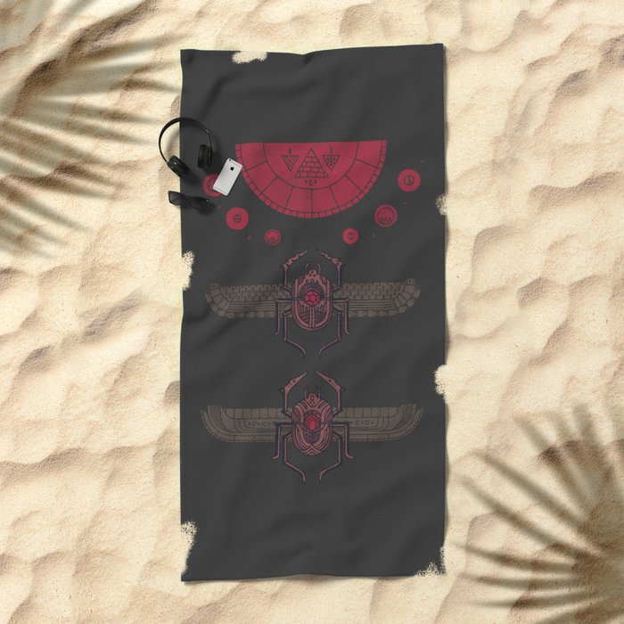 Scarabs Beach Towel