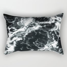 Waves - Black and White Abstract Rectangular Pillow