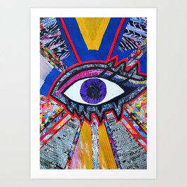 Eye collage Art Print