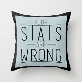 Stats Throw Pillow