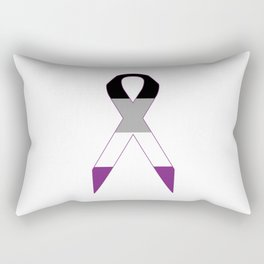 Asexual Ribbon Rectangular Pillow