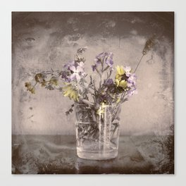 Wild beach flores cheer up my daily life - Las flores salvajes de la playa alegran mi diario vivir Canvas Print