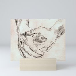 Study Hands Mini Art Print