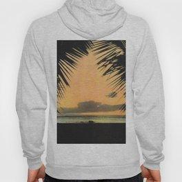 Waikiki Beach Sunset Through the Coconut Trees Hoody