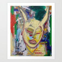 Listen - Original painting Marina Taliera Art Print