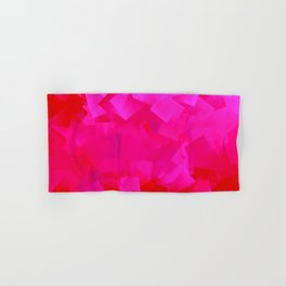 Cubism in pink Hand & Bath Towel