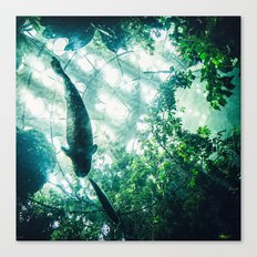 Glass Sea v. Synthetic Rainforest Canvas Print