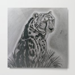 King Cheetah Metal Print