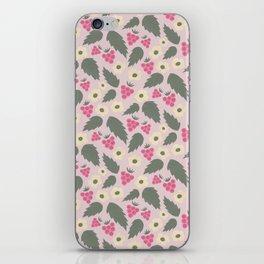 Retro Raspberry Pattern - Rose iPhone Skin