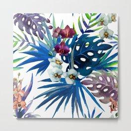 Tropical Watercolor Pattern Var. 7 Metal Print