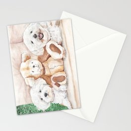 Two Bichons and A Friend Stationery Cards