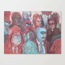 The News Room Canvas Print