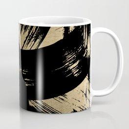 Elegant black faux gold modern brushstrokes pattern Coffee Mug
