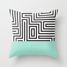 The Maze Throw Pillow