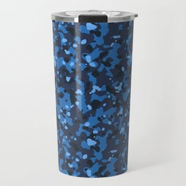 Blue Abstract Camouflage Travel Mug
