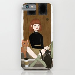cats & coffee iPhone Case