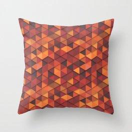 Seamless orange fashion retro hipster pattern Throw Pillow