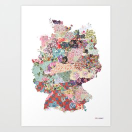 Germany map Art Print