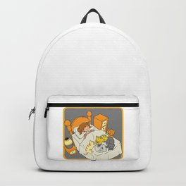 Dreaming Teenager In Bed With Cute Playful Kittens Backpack