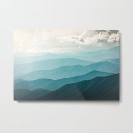Turquoise Smoky Mountains - Wanderlust Nature Photography Metal Print