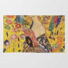 Gustav Klimt - Lady With Fan Rug