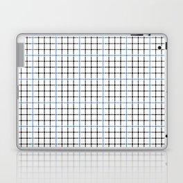 Dotted Grid Weave Blue Black Laptop & iPad Skin