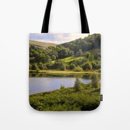 Private Fishing on Doly mynach Tote Bag