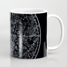 Constellations of Northern Hemisphere   White Ink on Black Archival Paper Coffee Mug