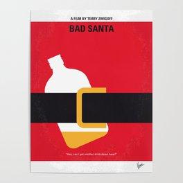 No702 My Bad Santa minimal movie poster Poster