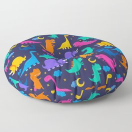 Dinosaurs At Night Rainbow Dinosaur Kids Pattern Floor Pillow