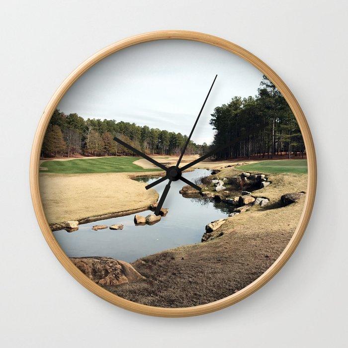 Golf Creek Winding Wall Clock