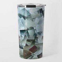 Geometric Stacks Turquois Cranberry Travel Mug