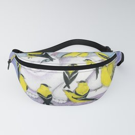 Cat Covered in Goldfinches Fanny Pack