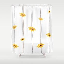 Simple Sunflower String Shower Curtain
