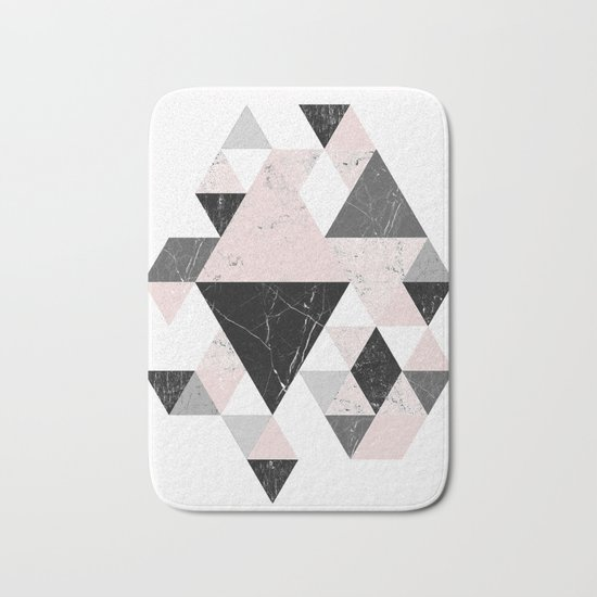 Triangle pattern modern geometric abstract ll Bath Mat