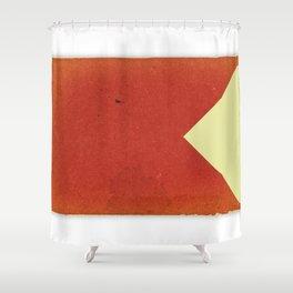 Vintage Nautical Flag Shower Curtain