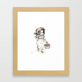 """The Dressed Dogs """"Japanese Chin Lady"""" Framed Art Print"""